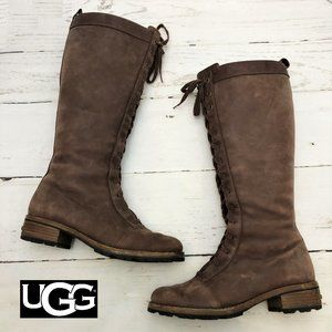 Womens UGG Brock Lace Up Leather Boots 7 #5517